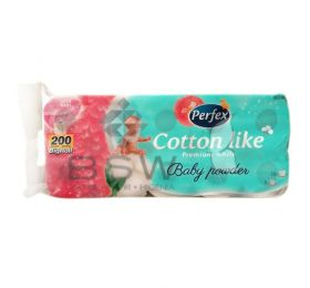 Boni Perfex Cotton Like Premium White, 100% cellulose toilet paper, baby powder