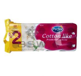 Boni Perfex Cotton Like Premium White, 100% cellulose toilet paper