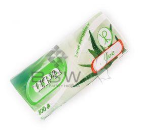 UPA papír zsebkendő, aloe vera, 3 rétegű, 100 db, 20x15