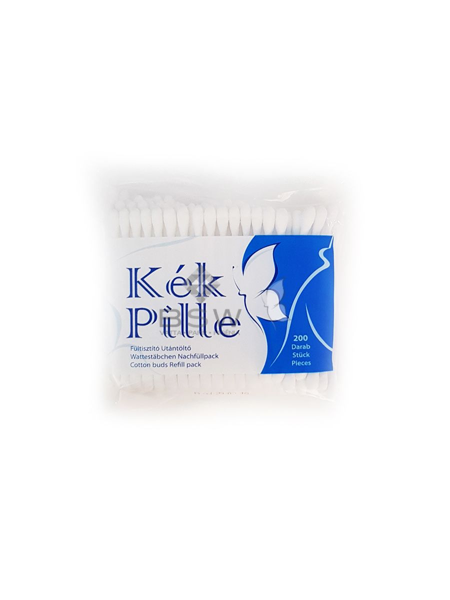 Kék Pille cotton buds in bag