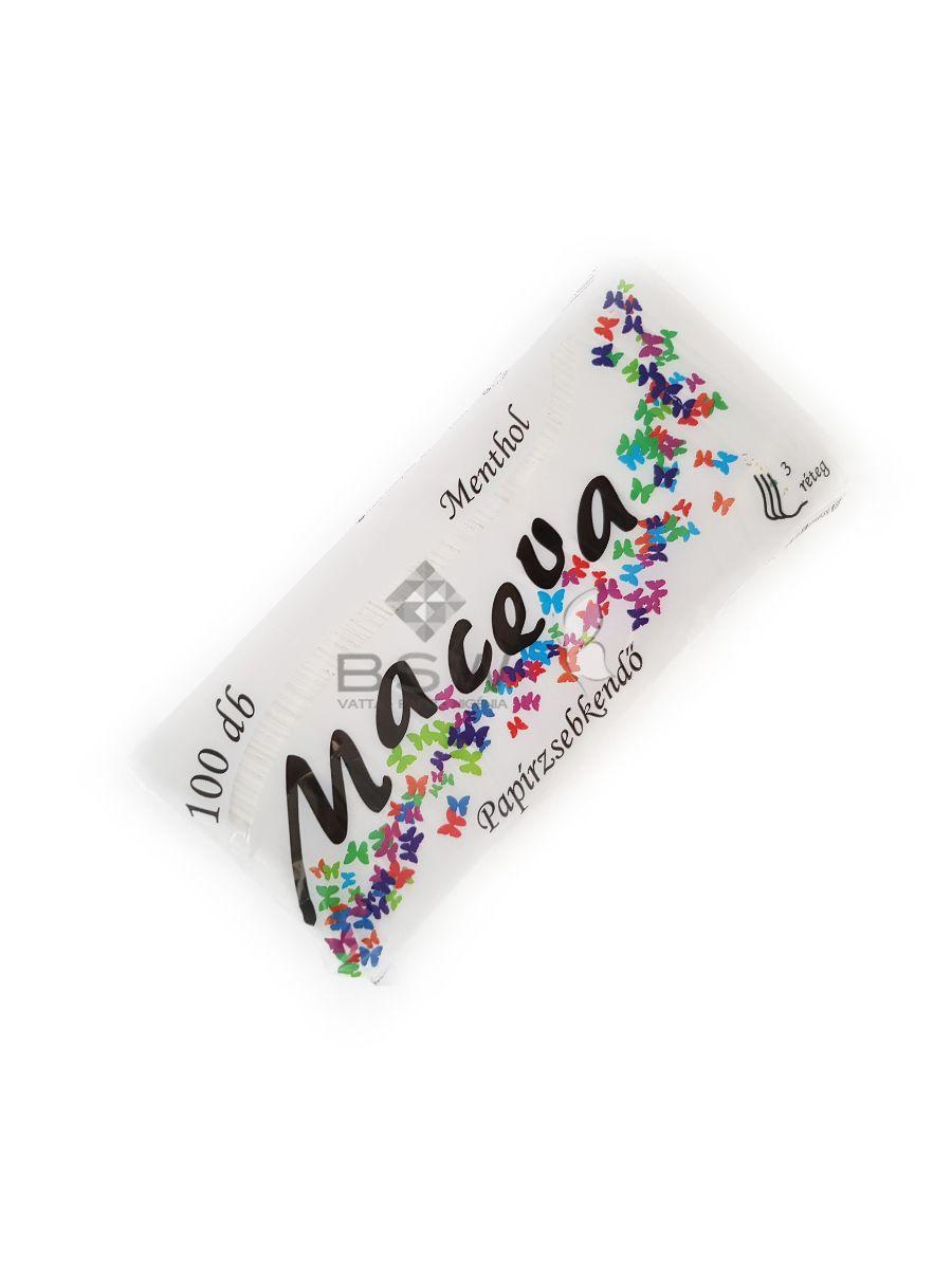 Maceva papír zsebkendő, mentolos, 3 rétegű, 100 db, 21x17