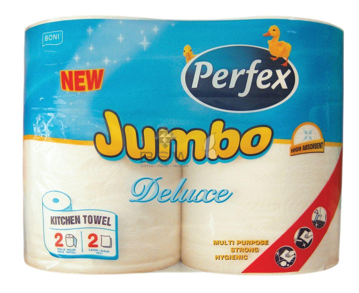 Boni Perfex Jumbo Deluxe, 100% cellulóz, konyhai törlő, fehér színű