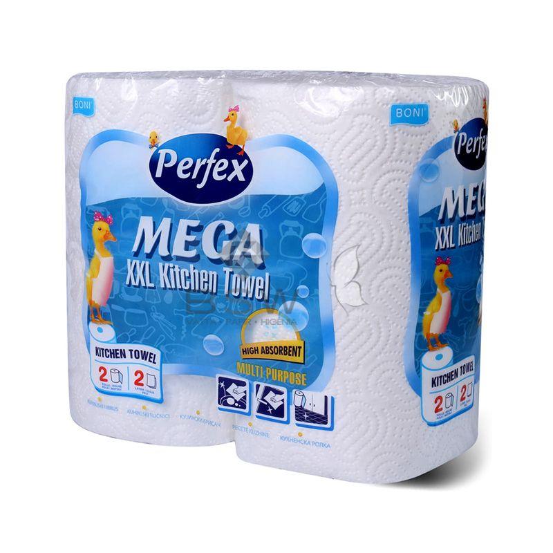 Boni Perfex Mega, 100% cellulóz, konyhai törlő, fehér színű